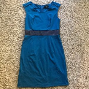 Blue mossimo dress w/black detail -great for work!